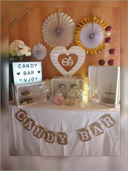 Candy Bar Girlande, Banner, Dekoration